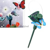 V1NF Solar Powered Dancing Flying Butterfly Garden Decoration Color At Random