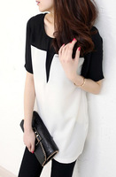 2013 new fashion plus size t shirt women clothing summer tops tee clothes blouses t-shirts Simple atmosphere