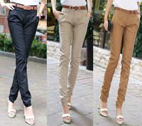 Free Shipping women's sexy fashion 1600 2014 casual design long pencil pants pants straight harem pants send strap