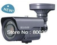 Outdoor 750TVL 6-60mm lens 80-100m IR cctv camera Can read car plate number very well in dark