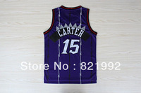 #15 Vince Carter Men's Toronto Classical Big Dragon Highest Mesh Purple Basketball Jerseys ,Embroidery logos,Accept Mixed Order