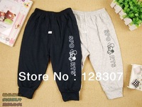 Free shipping spring and autumn children's clothing with two children leggings children pants open file