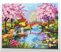 The Best Pictures DIY Digital Oil Painting  Paint By Numbers Christmas Birthday Unique Gift 40x50cm Romantic Cherry D048
