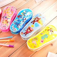 Creative cute cartoon pencil case sole stationery bags cartoon pencil case stationery box 10pcs/lot free shipping