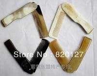 "6.4""Hand Made Mini Folding Pocket Hair Tibetan Yak Horn (ox horn) Comb"