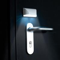 Auto Door locks lamp Thermo Motion IR Sensor Detector LED Lobby Light Lamp White 4 LEDs