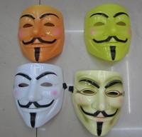 Wholesale - Free shipping EMS Vendetta party mask Halloween Mask Film mask V vendetta color masks