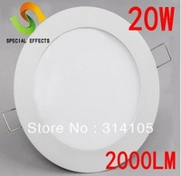 Free shipping 12w 15w 18w 20w led ceiling panel recessed ceiling light round shape warm/cold white 2835SMD CE&ROHS CCC