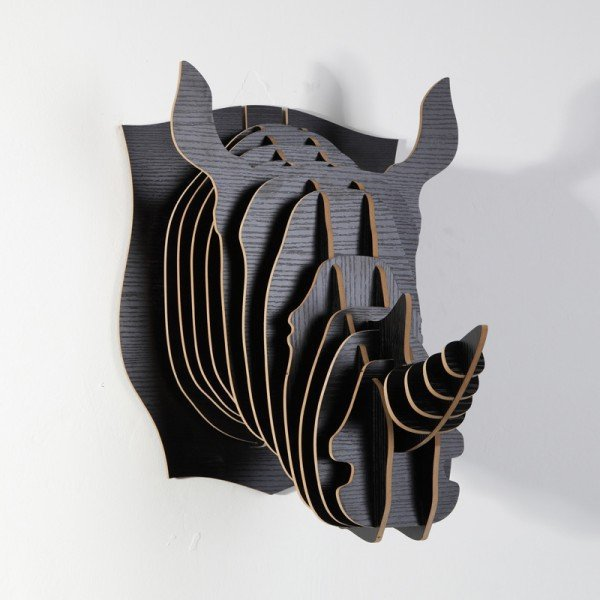 DHL/EMS Free Shipping elegant wall decor removable arts and crafts! Wholesale wood carved Rhino head wall decoration,wall mount(China (Mainland))