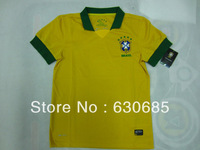 New arrival 13/14 fans version Brazil home yellow best quality soccer football jersey, Brazil soccer football jerseys