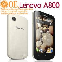 Freeshipping Original Lenovo A800 4.5 inch IPS MTK6577 CPU Dual-core RAM512 ROM4GB WIFI GPS dual sim card Bluetooth Russian