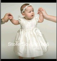 CL-02 Crazy Hot!!2013 New Arrival Lovely White Good Quality Handmake Lace Christening/Baptism Dresses