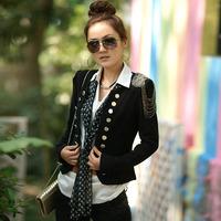 2014 new hot Fashion Cozy women clothes Shawl Coat blazer slim Wild suit Jacket No collar Slim WA