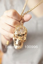 wholesale silver skull necklace