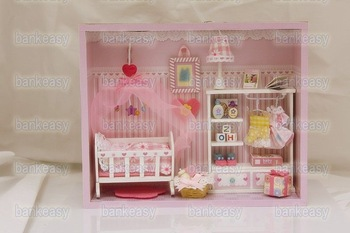 Birthday gift lovers doll model doll furniture baby package  wooden dolls house furniture