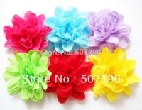 Wholesale - 2013 new Colorful Free shipping Chiffon  flower hair Brooch chiffon flower corsage for children  headband 24pcs/lot