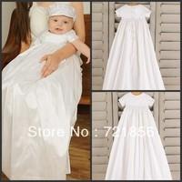 CL-015 2013 New Arrival Lovely White Good Quality Handmake Taffeta Baby Christening/Baptism Dresses