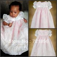 CL-013 Free Shipping!!2013 New Arrival Lovely White Good Quality Handmake Baby Christening/Baptism Dresses