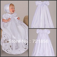 CL-03 Crazy Hot!!2013 New Arrival Lovely White Good Quality Handmake Bow Lace Baby Christening/Baptism Dresses