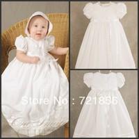 CL-09 Free Shipping!!2013 New Arrival Lovely White Good Quality Handmake Baby Christening/Baptism Dresses