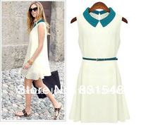 free shipping  fashion women zara2014 Summer new fashion European Style dress doll brought thin body Chiffon dress