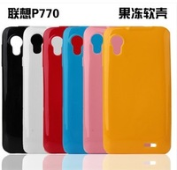 New Jelly Soft Silicon cell phone case cover for Lenovo P770  red /white /black /pink /blue /yellow free shipping