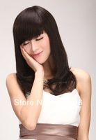 Only high-end all dream poem hand-woven wig real hair fashion lady long hair Qi Liu fluffy wig 3003