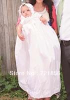 CL-06 Crazy Hot!!2013 New Arrival Lovely White Good Quality Handmake Taffeta Baby Christening/Baptism Dresses