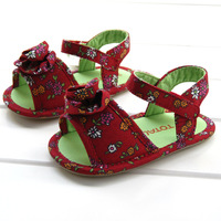 Net pink baby rubber soled sandals 8901b
