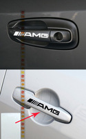 4PCS/Set  AMG Emblem Car handle  Sticker  Fit for Mercedes Benz  Freeshipping