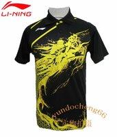 free shipping Li-Ning Man's London 2012 Olympic Games T-Shirt Table Tennis,Ping Pong RED BLACK BLUE