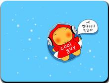 Free shipping! Cartoon cute cool guy mouse mat pad