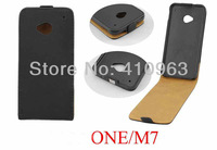 New Free shipping 10pcs/lot Genuine Real Leather Flip Case for HTC One M7
