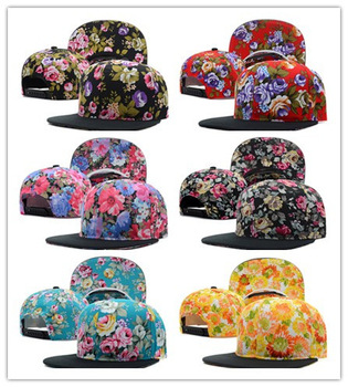 wholesale 21pcs/lot free shipping 2013 new fashion women flower snapbacks caps girl hats summer blank cap