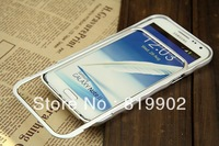 New High Quality Push-pull Aluminum Metal Bumper Case for Samsung Galaxy Note 2 ii N7100