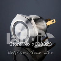 Short body Anti vandal Pushbutton L19M (19mm) made of Stainless steel with Green LED