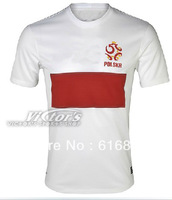 Top Thailand quality POLAND 13-14 Jersey soccer shirt can custom free shipping S,M,L,XL