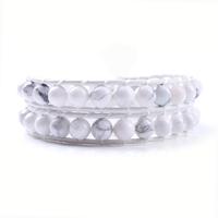 2013 fashion multi white of stone new hot sale leather bracelet stock