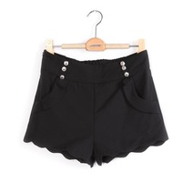 2012 pants candy color shorts ruffle double breasted shorts