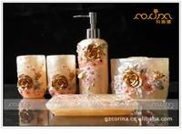 Resin bathroom set of five pieces fashion bathroom set home toiletries kit gift(BS-03)