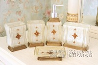 New arrival guanchong 5 piece set bathroom supplies kit shukoubei set bathroom set