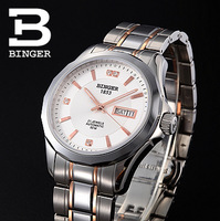 Binger accusative case watch fully-automatic mechanical watch stainless steel mens watch the timeliness series male table