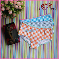 2013 single boxed MAOREN women's dimond cotton plaid soft triangle panties