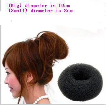 Min order is $10(mix order)Sponge hair band Bun Clip Maker Former Foam Twist Hair Salon Tool Hairwear hair jewelryTS100
