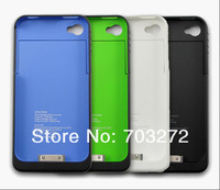 [ Hot Sale ]1900mAh External Rechargeable Backup Battery Charger Case for iphone 4s 4g 1pcs/lot free dropshipping