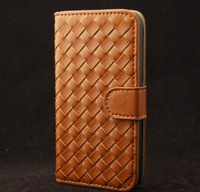 high quality 100% Handmade case for iphone5 Business style leather case free shipping