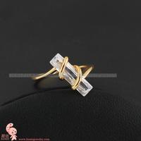 Top Selling High Quality 18K Gold Plated Fashion CZ Diamond Wedding Rings (kuniu J1089) FREE SHIPPING