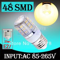 12pcs E27 Warm White 48 LED SMD Home Corn Bulb LED Light Lamp 85-265V 110V 220V 230V With Cover 3528