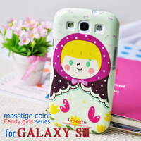 Candy Doll case for samsung galaxy sIII 9300 Cartoon hard back cover for samsung free shipping