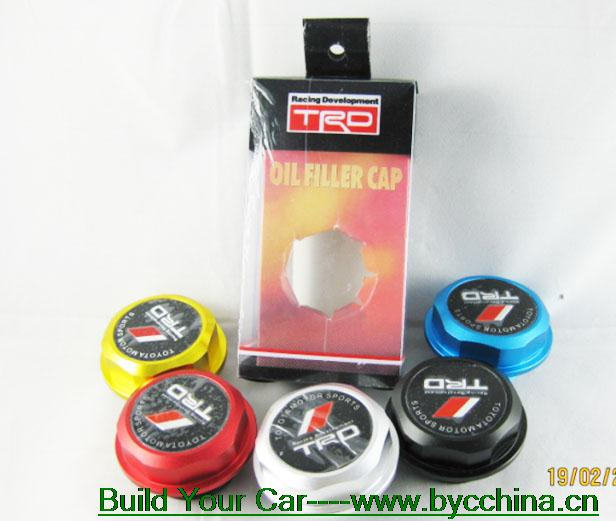Free Shipping!!TRD Racing Oil Tank Cap Hot Personality promotions ,CC000 (5 pieces)(China (Mainland))